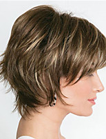 cheap -Synthetic Wig Straight Pixie Cut Wig Short Light Brown Synthetic Hair Women's Fashionable Design Exquisite Light Brown