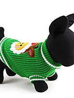 cheap -petcircle new christmas tree knitting dog sweater christmas new year winter soft washable dog clothes for small dogs (s, green)