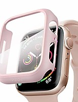cheap -compatible apple watch series 6 /5 /4 /se 44mm case with screen protector accessories slim guard thin bumper full coverage matte hard cover defense edge for women men new gen gps iwatch (pink)