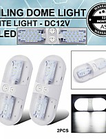 cheap -1 Pcs 24 LED 6.8W 6000K Interior Switch Natural White Ceiling Dome Trailer Light Car Boat Truck 2 Colors To Choice