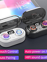 cheap -TW80 Hi-Fi Bluetooth 5.0 Wireless Earphone Waterproof Touch Control Wireless Sports Earphone with LED Display Gaming Earphone