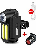 cheap -bike light set 1200mah bicycle flashlight usb rechargeable bike led light set front and back lights waetproof cycling headlight mount (color : black, size : with taillight)