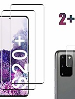 cheap -[2 pack] galaxy s20 plus screen protector tempered glass include a camera lens protector,glass screen protector with 3d curved hd clear full coverage for samsung galaxy s20 plus