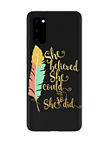 cheap -Case For Samsung Galaxy S20 FE Frosted Pattern Back Cover Word Phrase TPU Soft Galaxy S20 Plus Note 20 Ultra Note 10 Plus A11 A21S A31 A41 A51 A71 A81 A91