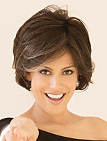 cheap -Synthetic Wig Curly Bouncy Curl Asymmetrical Wig Short Light Brown Dark Brown Synthetic Hair Women's Fashionable Design Cool Exquisite Dark Brown Light Brown