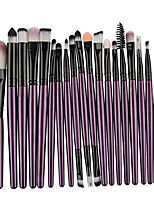 cheap -makeup brush set  20 pieces professional eye makeup cosmetics brush set(purple)