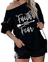 cheap -womens v-neck oversized off shoulder batwing tops long sleeve pullover blouses simple loose t shirts(small, black2)