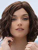 cheap -Synthetic Wig Curly Asymmetrical Wig Short Light Brown Dark Brown Synthetic Hair Women's Fashionable Design Exquisite Fluffy Brown