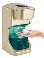 cheap -EXECART Automatic Foaming Soap Dispenser Hand-Free Touchless Soap Dispenser with Motion Sensor Waterproof for Kitchen Bathroom Office School Gold