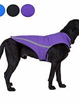 cheap -waterproof dog jacket reflective dog coat thick winter dog vest adjustable with leash hole dog snow jacket for small medium large dogs