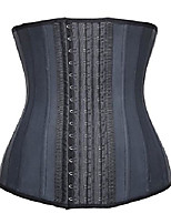cheap -women's waist slimming corset latex waist trainer body shapewear (6xl/(fits 42-44 inch waistline), black)