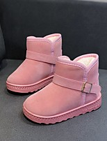 cheap -Boys' / Girls' Boots Snow Boots Cotton Big Kids(7years +) Walking Shoes Black / Pink / Brown Winter