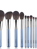 cheap -11 Pcs makeup brush set small grape series makeup brush set Wooden Handle