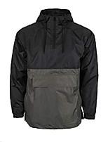 cheap -men's hooded anorak jacket lightweight waterproof windbreaker rain jacket raincoat (m, usw220_black/grey)