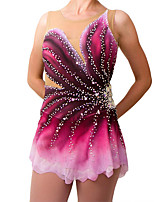 cheap -21Grams Figure Skating Dress Women's Girls' Ice Skating Dress Fuchsia Spandex High Elasticity Training Competition Skating Wear Handmade Crystal / Rhinestone Gradient Color Sleeveless Ice Skating