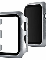 cheap -screen protective face bumper case cover compatible with apple watch 38mm, ultra-slim lightweight plate frame for iwatch series 3 2 1 silver