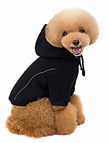 cheap -solid color hoodies for dogs cats, long sleeves sweater with hooded cute fall winter warm sweatshirt pets clothes for puppy kitten (s, black)