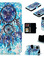 cheap -Case For Apple iPhone 12 Pro Max  Wallet Card Holder with Stand Full Body Cases Feathers PU Leather iPhone 12 Mini SE 2020 11 Pro XR XS Max X 7 8 Plus