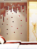 cheap -Heart Wall Stickers Mirror Wall Stickers Decorative Wall Stickers, Acrylic Home Decoration Wall Decal Wall Decoration 1pc