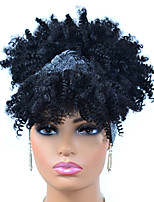 cheap -Synthetic Wig Afro Curly Kinky With Bangs Wig Short Black Synthetic Hair Women's Fashionable Design Color Gradient For Black Women Black Brown