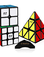 cheap -Speed Cube Set 3 pcs Magic Cube IQ Cube 2*2*2 3*3*3 Speedcubing Bundle 3D Puzzle Cube Stress Reliever Puzzle Cube Stickerless Smooth Office Desk Toys Pyramid Kid's Adults Toy Gift