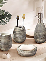 cheap -4 PCS Ceramic Marble Bathroom Accessory Set Washing Tools Include Soap Dispensor Toothbrush Holder Soap Dish Wash Cup Home&Hotel Holiday Bathroom Decoration Gift Idea