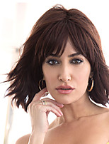 cheap -Synthetic Wig Curly With Bangs Wig Short Dark Brown Brown Synthetic Hair Women's Fashionable Design Exquisite Comfy Brown