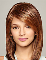 cheap -Synthetic Wig Natural Straight Asymmetrical Wig Medium Length Light Brown Blonde Silver Synthetic Hair Women's Fashionable Design Cool Exquisite Silver Blonde