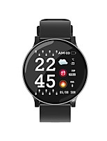 cheap -W8 Ultra-thin Racket Bright Screen Large View Heart Rate Blood Pressure Oxygen Weather IP67 Smart Watch