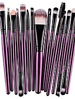 cheap -makeup brushes, 15 pcs eye shadow foundation eyebrow lip brush set (m, purple)