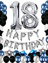 cheap -18th birthday decorations, 18th birthday party pack 18th birthday gifts include silver number 18 balloons suitable for girls boys women men(80 pack party supplies)