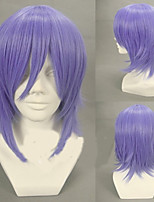 cheap -Pandora Hearts Xarxes Break Cosplay Wigs Men's Layered Haircut 12 inch Heat Resistant Fiber Curly Purple Teen Adults' Anime Wig