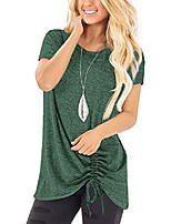 cheap -st patricks day shirt women short sleeve round neck tees spring tops blouse green m