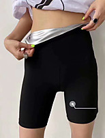 cheap -Slimmer Hot Neoprene Shorts Sports Polyester / Cotton Blend Yoga Gym Workout Pilates Stretchy Weight Loss Tummy Fat Burner Hot Sweat For Men Women
