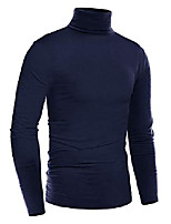 cheap -pullover sweatshirts for men turtleneck long sleeve thermal underwear casual big and tall mens t shirts navy blue