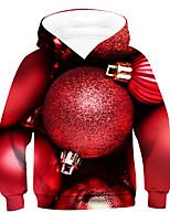 cheap -Kids Boys' Active Basic 3D Drawstring Long Sleeve Hoodie & Sweatshirt Red