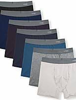cheap -men's boxer briefs cotton stretchy underwear 7 pack for a week(medium,basics with fly)