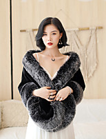 cheap -Sleeveless Shrugs / Coats / Jackets Fauxfur Party / Evening / Birthday Shawl & Wrap / Women's Wrap / Women's Scarves With Studded