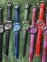 cheap -Women's Quartz Watches Quartz Stylish Luxury Water Resistant / Waterproof Analog Golden+Black Black Blue / One Year / PU Leather
