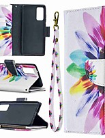 cheap -Case For Samsung Galaxy A42 5G Galax S20 Ultra Galaxy S20 Wallet Card Holder with Stand Full Body Cases Sun flower Painted Zipper Bag PU Leather TPU for Samsung Galax Note 20 Ultra A21S A51 A71