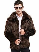 cheap -faux fur coat winter warm fur jacket luxury long sleeve overcoat parka outerwear for women men khaki