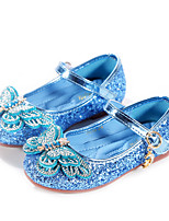 cheap -Girls' Flats Comfort / Flower Girl Shoes / Princess Shoes Patent Leather / PU Little Kids(4-7ys) Walking Shoes Rhinestone / Bowknot Blue / Pink / Silver Spring / Fall / Party & Evening