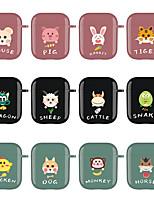 cheap -Case For AirPods 1 2 Cute Pattern Headphone Case Hard Animal Cartoon