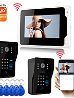 cheap -WIFI / Wired & Recording Snapshot 7 inch Hands-free Monitor Video Doorphone with 1080P Camera Motion Detector and RFID Password Unlock.