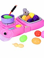 cheap -pretend play food set for kids kitchen toys barbecue play set durable construction kitchen accessory set (pink)