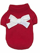cheap -fudule hoodie coat clothes knitwear turtleneck pullover warm winter puppy sweater dresses dog clothes warm dog costume red