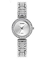 cheap -quartz watch womens 30 meters waterproof lady watch with stainless steel diamond band