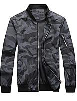 cheap -bomber jacket men camo print outwear, black, small