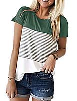 cheap -women classy peach casual patchwork o neck basic standard size tunic blouse t-shirts