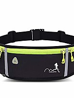 cheap -slim waist fanny pack, running belt, sweatproof and waterproof, sports fanny pack with water bottle holder, machine washable,can hold cash keys cards phone,black